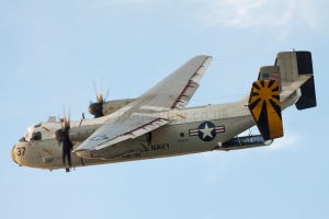 C-2A 162164 of VRC-30 turning final at NAS North Island, one of the images included in this years Fighting Ships