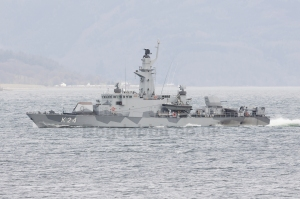 """Swedish Navy Gavle Class Corvette """"Sundsvall"""" (K24) is one image in the 2014/2015 edition of Fighting Ships"""