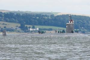 "Virginia Class SSN ""Missouri"" of the US Navy exiting Faslane."