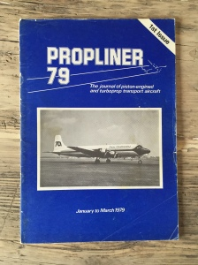 The first edition of Propliner, in its then blue cover. All images at that time were black and white - though due to the nature of the articles many of the photos up until the last edition were in b & w. There were plenty of colour photos too once the magazine went to the yellow cover.