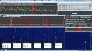 This image shows the Titan monitoring 12 frequencies, 6 of which are decoding ALE using PC-ALE. This can take place in the background, while listening to the other frequencies on the SDR.