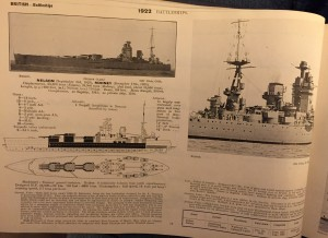 "Taken from the 1932 edition of ""Fighting Ships"", the earliest in my collection."