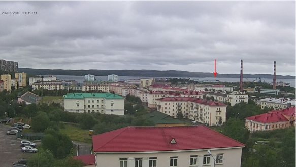 "Severomorsk also has webcams. Here the two images show how you can roughly log arrivals and departures of certain ships. In this image various ships can be seen including a Borey-class SSBN highlighted by the arrow. This is likely to be ""Vladimir Monomakh"" which left Severomorsk for its new base at Vilyuchinsk in the Pacific on the 15th of August. In the image below, captured just two hours later, the only Russian Aircraft Carrier, Kuznetsov-class ""Admiral Kuznetsov"" has arrived in port. This was undergoing pre-deployment maintenance and trials before she headed to the Mediterranean. You'll also notice that the Borey has drifted around making it harder to identify from this angle."